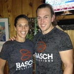 Justin Basch with Basch Solutions client and Olymopic gold medalist Carli Lloyd.