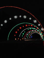 The tunnel of lights is an awesome display that is part of the 24th annual Lightfest that starts at Hines Drive (Merriman Road entrance). Cost is $5 per vehicle.