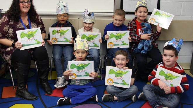 Nicole Porter's Circleville Elementary School students wrote a book about a dinosaur that was later published.