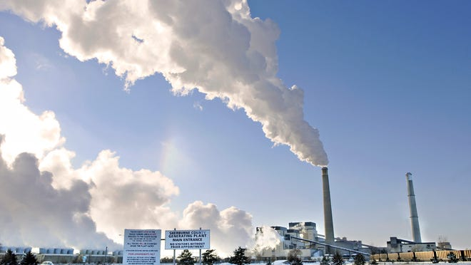 The Sherco power plant in Becker produces electricity in December 2013.  Xcel Energy's vice president for commercial operations says the power company's coal stockpile at Sherco is at about 57 percent of its target inventory.