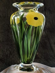 "This large cased Black Eyed Susan vase is part of the ""End of an Era"" at Studio 7 in Bernardsville."
