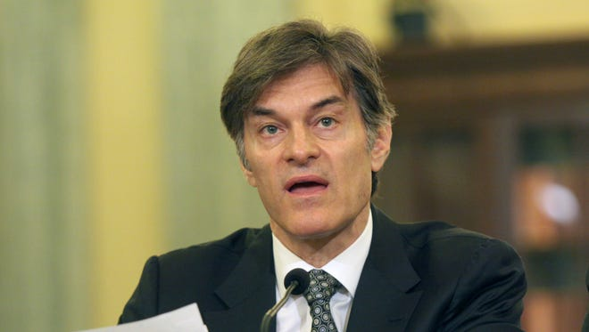Dr. Mehmet C. Oz testifies at a hearing on Capitol Hill Tuesday.