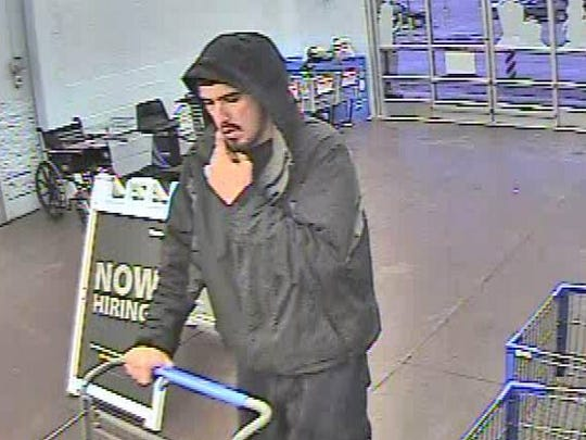 """West Manheim Township Police Department  is seeking help in identifying a suspect wanted in connection with a theft that occurred at the South Hanover Wal-Mart on December 5 at around 7:30 a.m. Police say the suspect """"fled out a side exit and left in a white car."""""""