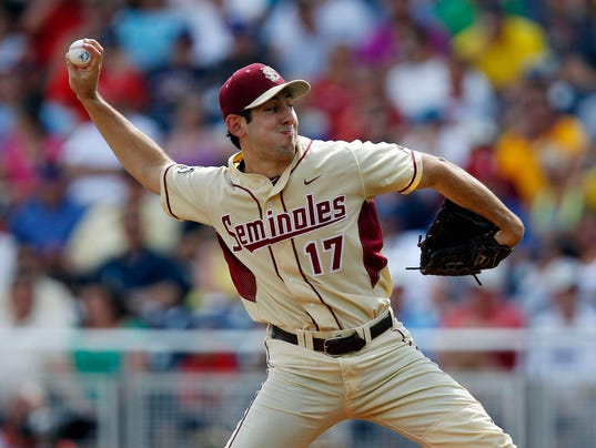 NCAA Baseball: College World Series-Stony Brook vs Florida State