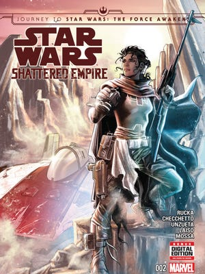 "Shara Bey is an A-wing pilot and Rebel soldier who plays a starring role in the comic book ""Star Wars: Shattered Empire."""