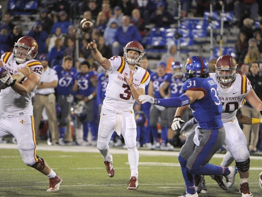 NCAA Football: Iowa State at Kansas