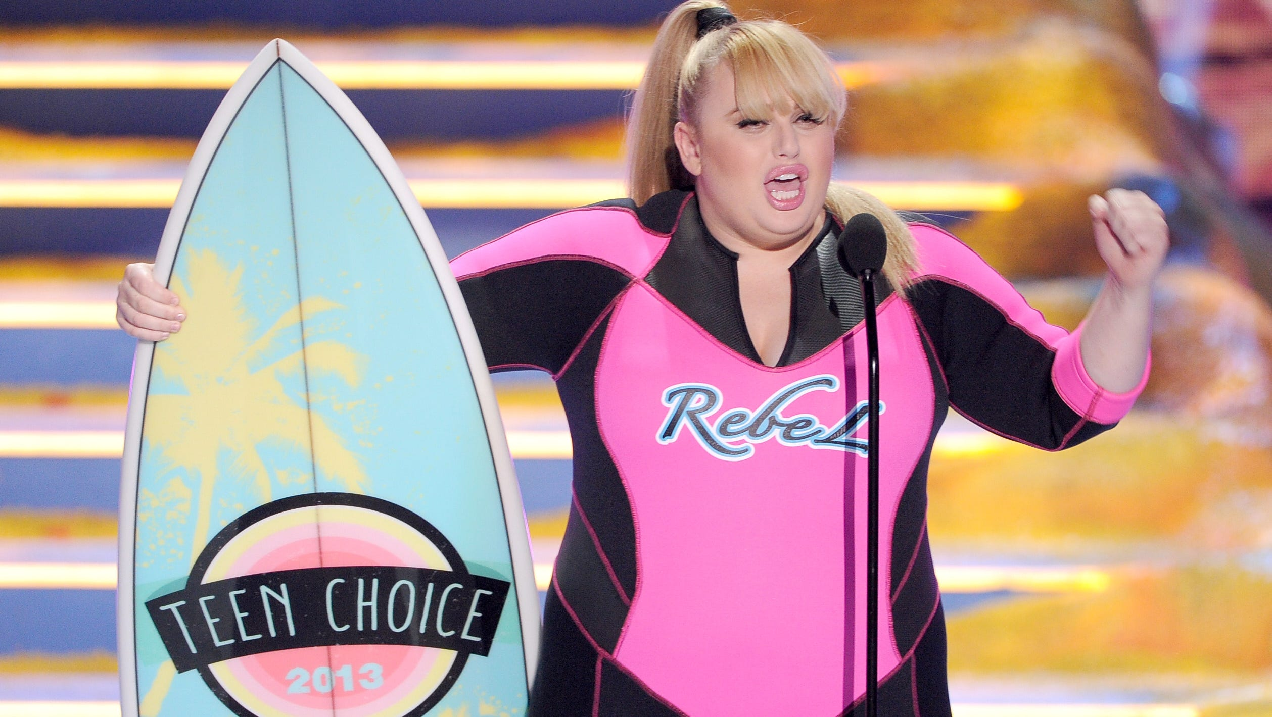 """Actress Rebel Wilson accepts Choice Movie Actress for """"Pitch Perfect."""""""
