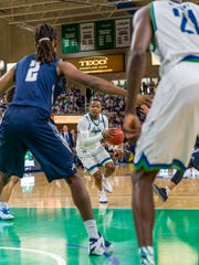FGCU's Brandon Goodwin has become excellent at breaking down defenses on the fly.