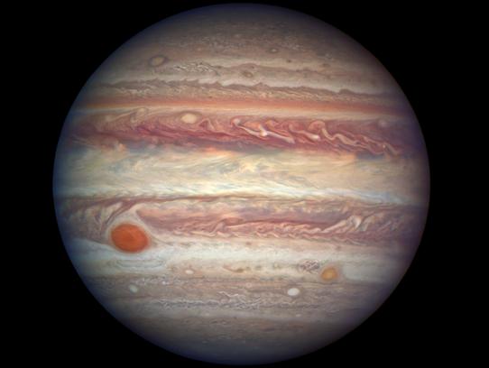 Jupiter taken by the Hubble Space Telescope.