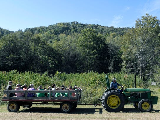 Lipscomb Academy preschoolers take a hay ride at Owl's