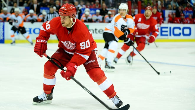 Detroit Red Wings center Stephen Weiss (90) during the third period against the Philadelphia Flyers at Joe Louis Arena.