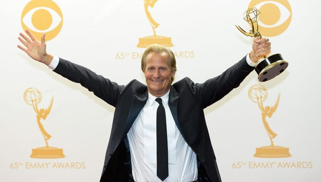 Jeff Daniels, won outstanding lead actor in a drama series for his role in 'The Newsroom.'