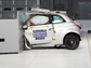 Fiat 500 goes into the barrier at 40 miles per hour