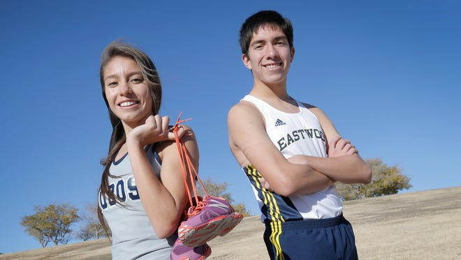 The El Paso Times' cross country runners of the year are Michelle Estrada, Mountain View and Daniel Bernal of Eastwood.