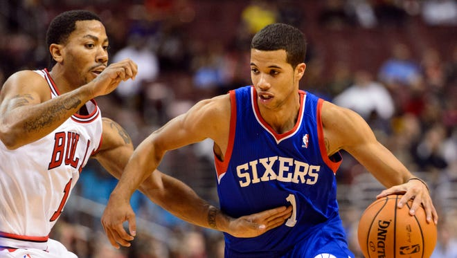 Michael Carter-Williams had 26 points and 10 assists for the unbeaten 76ers.