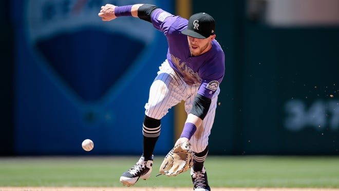 Shortstop Trevor Story and the Colorado Rockies will complete a seven-game homestand with a 1:10 p.m. game Sunday against the Miami Marlins at Coors Field in Denver.