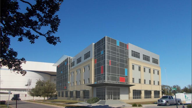 Rendering of Space Florida's proposed building for the Technology Park in Pensacola