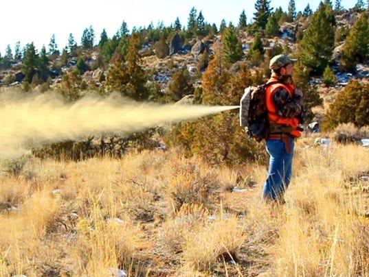 Backpack bear spray