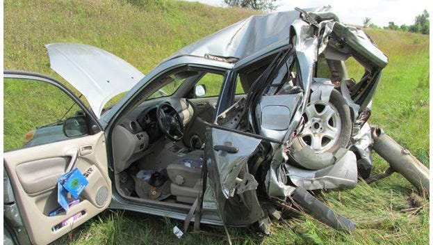 A man was seriously injured in a semi vs. car accident Tuesday, Aug. 30.