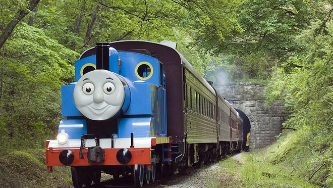 Thomas steams down a track during the Day Out with Thomas event, which returns to Connersville starting June 17.