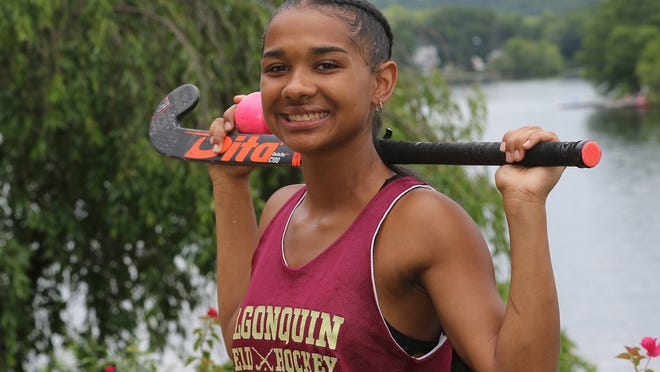 Algonquin field hockey senior Day Ruffo scored a hat trick in the Tomahawks' 7-0 win over Westborough on Saturday.