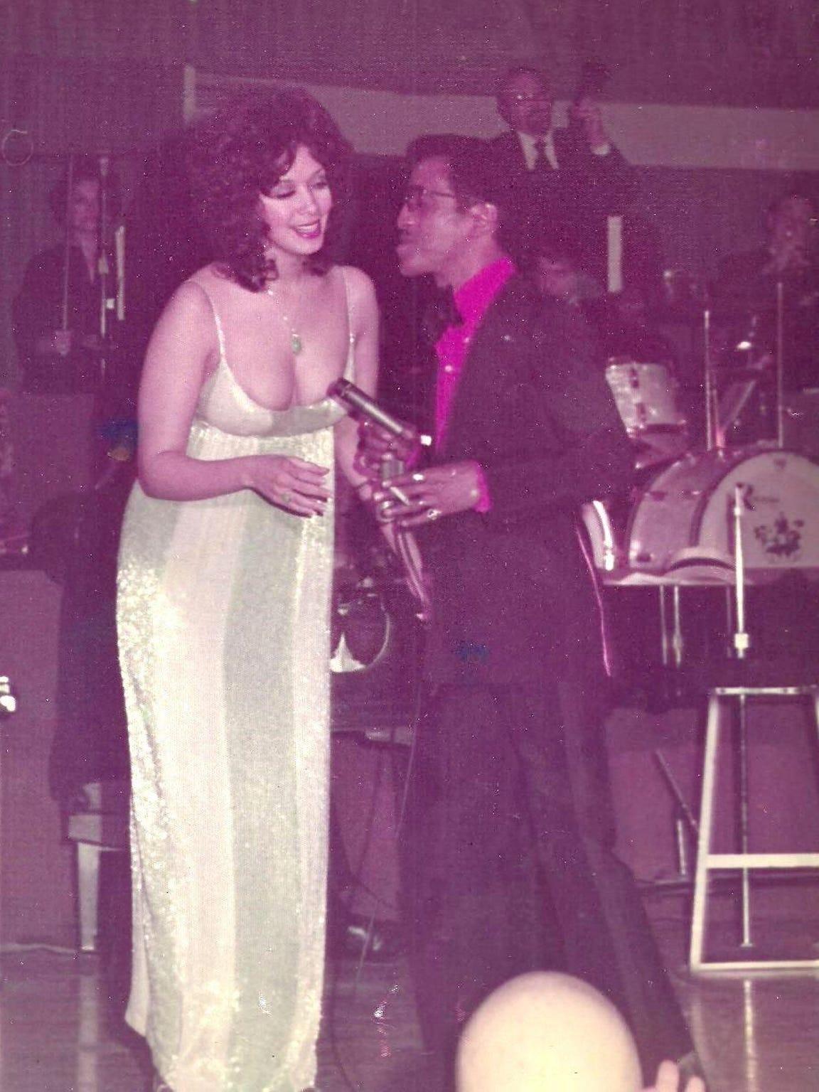 Kathy McKee, with then-boyfriend Sammy Davis Jr. at