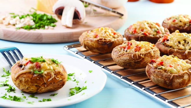 Mexican stuffed breakfast portobello mushrooms