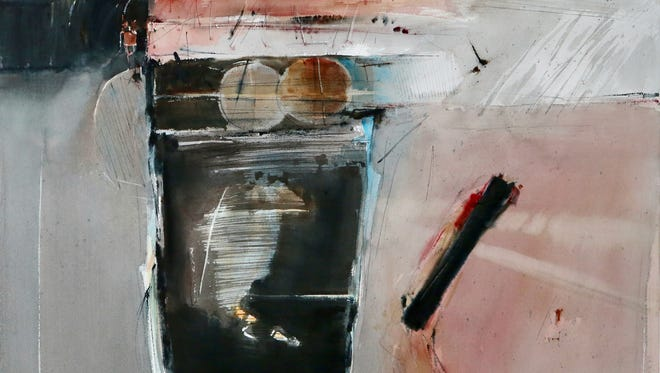 """Anton Weiss, """"Untitled Watercolor 2,"""" watercolor on paper, 34x42."""