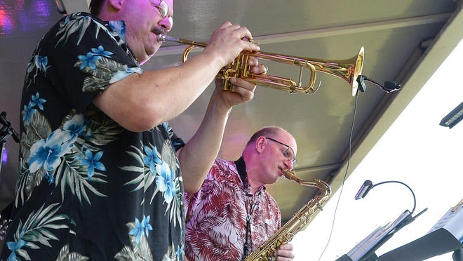 Jeff Gibbens, left, and Al Zurcher, shown in 2017, are part of the Erie band Key West Express, which will perform Sunday in Westlake, Ohio.