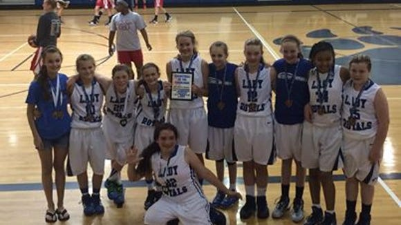 WNC Lady Royals 6th grade basketball team.
