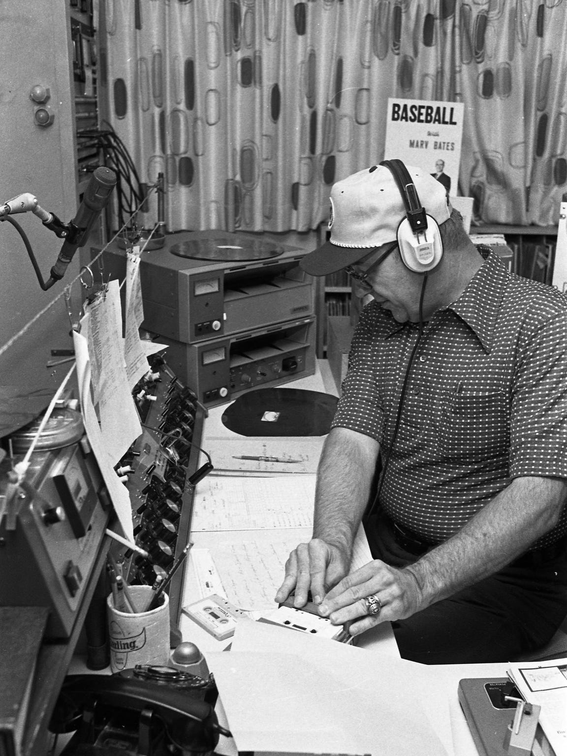 Marv Bates was a radio broadcaster for 30 years, most