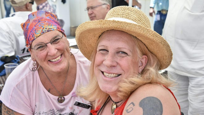 Jennifer Sweet (right) and her wife, Candice Marie Sweet.