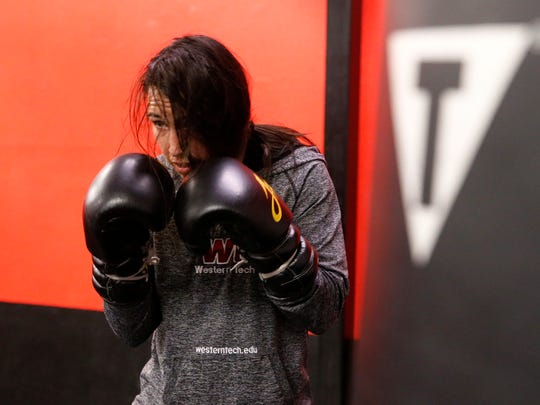 El Pasoan and IBF world featherweight champion Jennifer Han goes through the final week of preparations for her Saturday night title bout against Lizbeth Crespo.