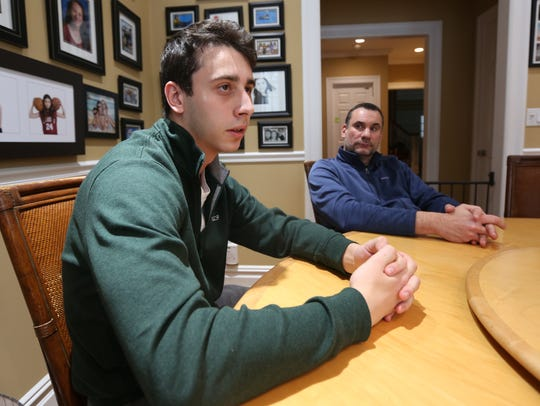 Joseph Metviner and his father Perry at their Scarsdale home Jan. 4, 2018. Joseph was close friends with Zach Steinberg.