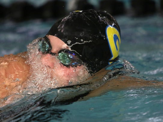 Germantown's Peyton Driebel competes in  the WIAA sectional