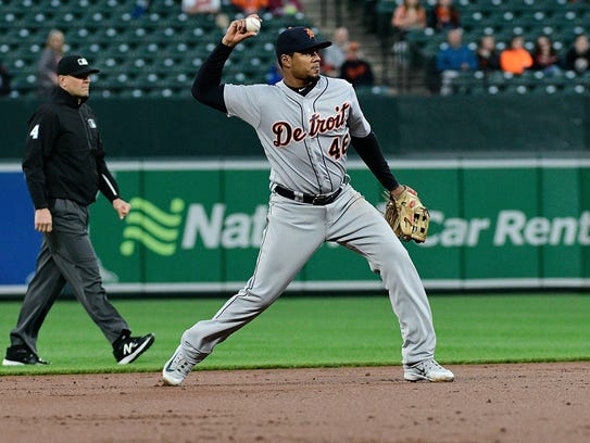 Jeimer Candelario during a game in Baltimore.