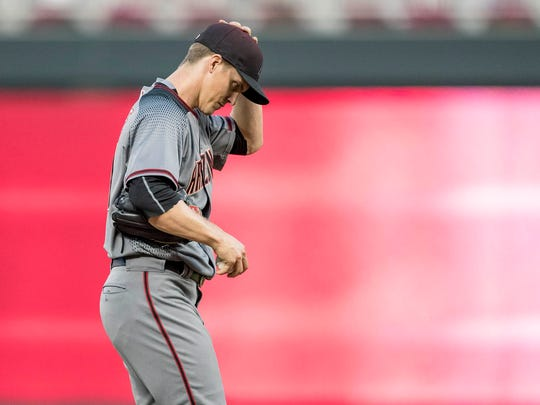 Diamondbacks ace Zack Greinke suffered a rough loss
