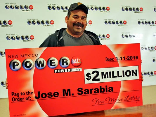 Jose Sarabia lottery winner