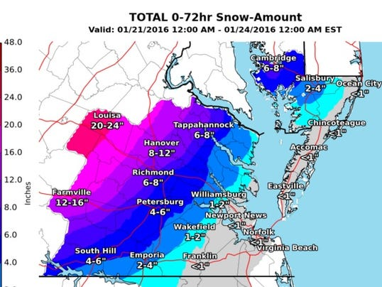 snowfall predication delmarva
