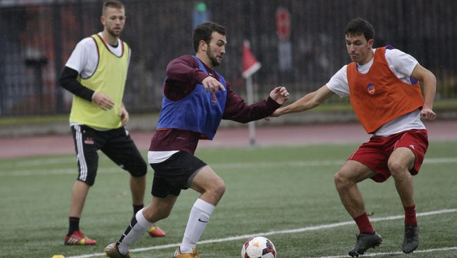 About 120 players turned out for FC Cincinnati's tryouts Saturday.