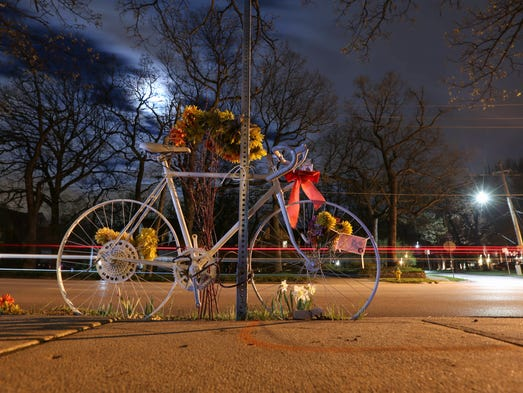 A memorial to Wade Franck, a well-known Des Moines