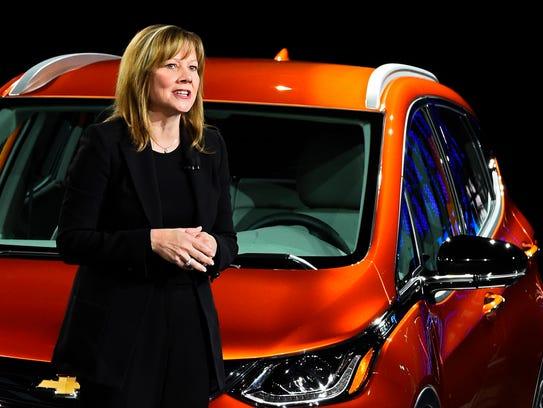 General Motors Mary Barra introduced the Bolt EV at