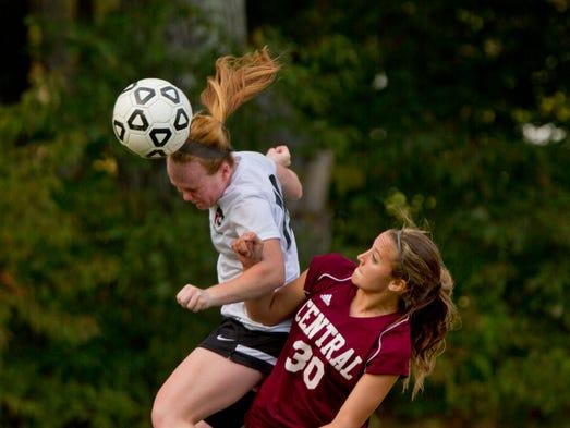Jackson Memorial's Lindsey Bathman gets to headball