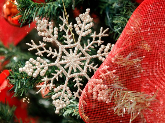 An ornament is seen on a Christmas tree at last year's