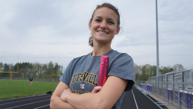 Pittsville senior Alissa Korslin is her class valedictorian and a state track qualifier in two events.