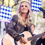 "Carrie Underwood performs on NBC's ""Today"" show at Rockefeller Plaza on Friday, Oct, 23, 2015."