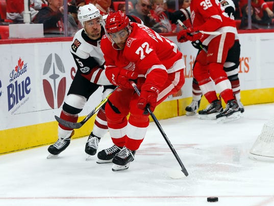 NHL: Arizona Coyotes at Detroit Red Wings