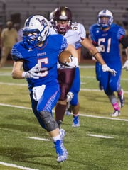 Las Cruces High's Payton Ball gets into the Gadsden