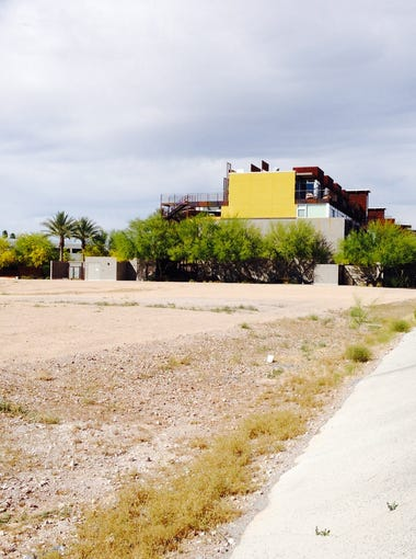 Scottsdale eyesore:  The stretch of Arizona Canal northeast of Camelback and Scottsdale roads is an area where construction of new multifamily housing developments are expected.