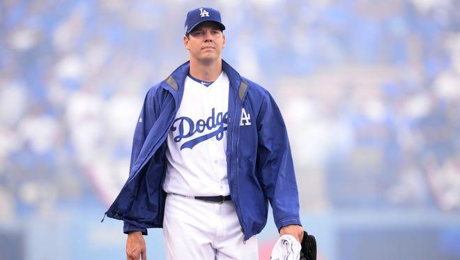 Rich Hill went 3-2 with a 1.83 ERA in six start with the Dodgers.